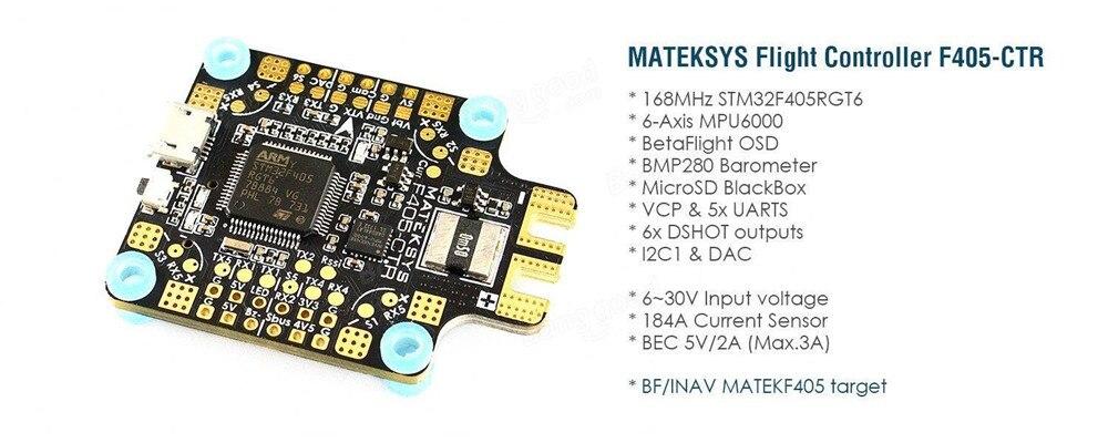 Matek MATEKSYS F405 CTR BetaFlight F405 STM32F405 Flight Controller Built in Osd PDB 5V 2A BEC