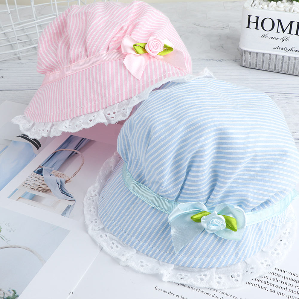 Newborn Soft Bow-knot Beanie Hollow Lace Kids Hats Baby  Fisherman Hat SA