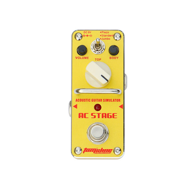 AROMA AAS-3 AC STAGE Acoustic guitar simulator Mini Analogue Effect True Bypass aroma dumbler dumble amp simulator guitar effect pedal adr 3 sound overdrive mini analogue volume control gain tone control