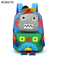 3D Cartoon kids Bag Robot mochila children backpacks kindergarten backpack child school bags Satchel for baby boys and girls|backpack kindergarten|children school|backpack children school -