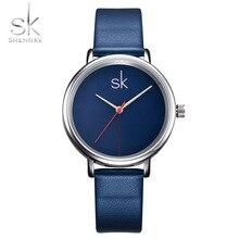 Shengke Mujeres Reloj Reloj de Las Mujeres Reloj de Cuero de Lujo de Negocios de Primeras Marcas Marino Simples Señoras Del Reloj de Manera Relogio Feminino 2017