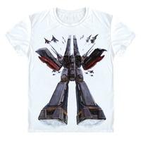 The Super Dimension Fortress Macross T Shirt Japna Classic Anime T Shirt Nostalgic Robot Short Sleeve