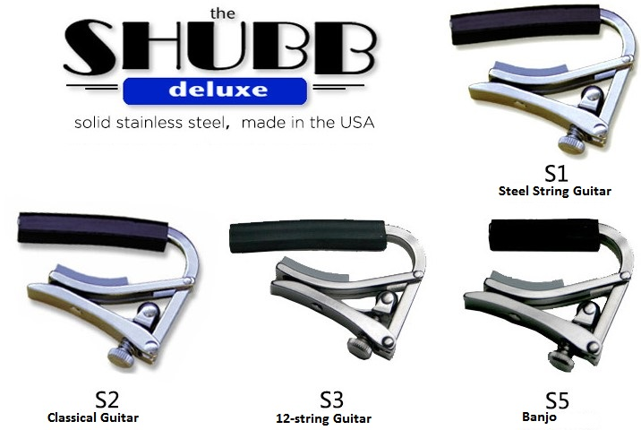 Shubb Deluxe S Series Steel Strings Guitar Capo S1 S2 S3 S5 for Acoustic/Classical/12-string Guitar and Banjo Capotraste savarez 510 cantiga series alliance cantiga ht classical guitar strings full set 510aj