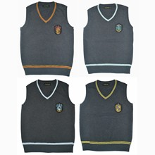 MMGG Hogwarts Harri Potter cosplay costumes Ravenclaw/Gryffindor/Hufflepuff/Slytherin sweater vest Malfoy Hermione Suit(China)