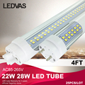 LEDVAS Factory outlets 22W 28W Led Tube T8 Cree SMD2835 288leds 1200mm 1.2m 4Ft AC85-265V White Warm White 2 Year Warranty 25x