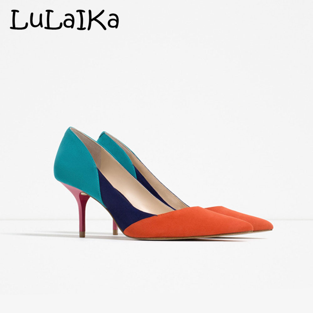 New Fashion Women Pumps Gradually Changing Color High Heels Shoes Woman Sexy Pointed Toe Thin Heel Patent Leather PumpsNew Fashion Women Pumps Gradually Changing Color High Heels Shoes Woman Sexy Pointed Toe Thin Heel Patent Leather Pumps