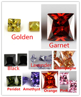 MRHUANG Shine!100pcs/pack Grade AAA color CZ Cubic Square Shape 7*7MM Zirconia Stone DIY Beads For earring ring Jewelry