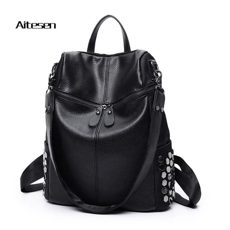 Women Kanken Backpack Classic Eastpack Feminina PU Leather Backpack Lady Swisswin Fashion Brand Backpack Women Luxury