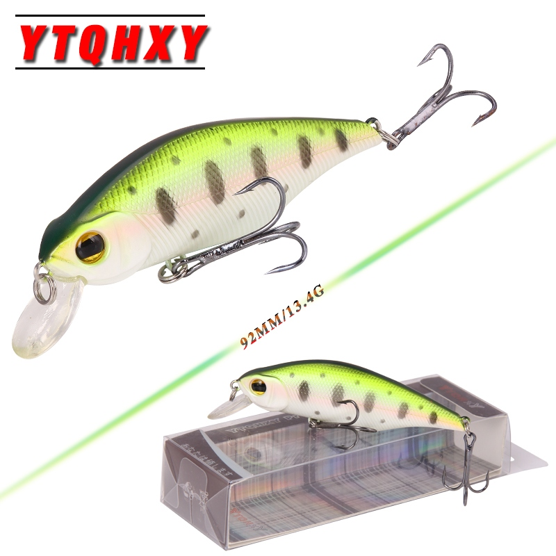 YTQHXY Good Quality Fishing Wobbler 13.4g/92mm Sinking Minnow isca artificial Bait Fishing Lures with 6# Hook peche YE-162 1pcs 12cm 14g big wobbler fishing lures sea trolling minnow artificial bait carp peche crankbait pesca jerkbait ye 37