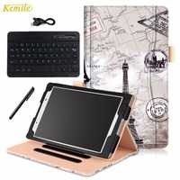 PU Leather Wallet Buluetooth Keyboard Case Cover For Lenovo TAB 4 8 TB 8504F TB 8504N