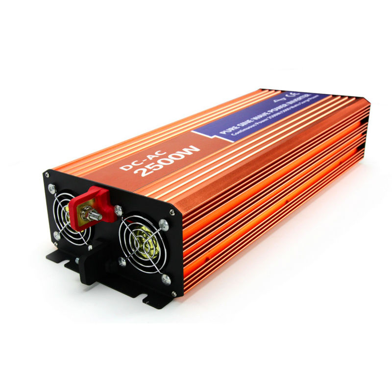 2500W Pure Sine Wave Solar Inverter DC 12V to AC 110V/120V/220V/230V Peak Power 5000W Off-grid Voltage Converter Wind Inverter led display high frequency off grid dc to ac voltage converter 12v 220v inverter 3500w pure sine wave solar power inverter