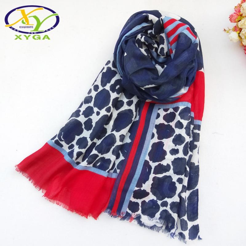 1PC Women Cotton Long   Scarf   2019 Spring Female Polyester Soft Shawls Winter Ladies Leopard Print   Wraps   Autumn Muslim Kerchiefs