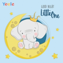 Yeele Cartoon Photography Backdrop Elephant Moon Baby Shower Children Birthday Party Photocall Background For Photo Studio allenjoy blue elephant photo background baby shower birthday photography backdrop photocall shoot photo studio prop fabric