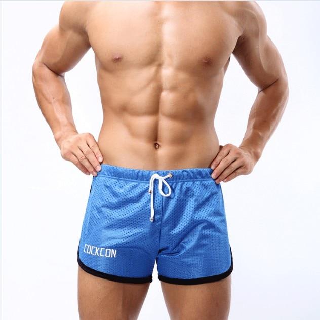 fb88894e405 men s sports shorts male mesh fabric fitness boxers tennis badminton short  pants M-XXL gym shorts