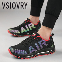 VSIOVRY Spring Men Sneakers 2018 Fashion New Discoloration Flats Casual Shoes Autumn Breathable Air Cushion Soft