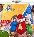 Alvin y las Ardillas juegos de cama ropa de cama de dibujos animados de algodón 100% ropa de cama para niños chicos edredón cubre solo completo queen king size