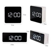 Hot Multifunction LED Mirror Alarm Clock Digital Clock Snooze Display Time Night Led Light Table Desktop Alarm Clock Despertador