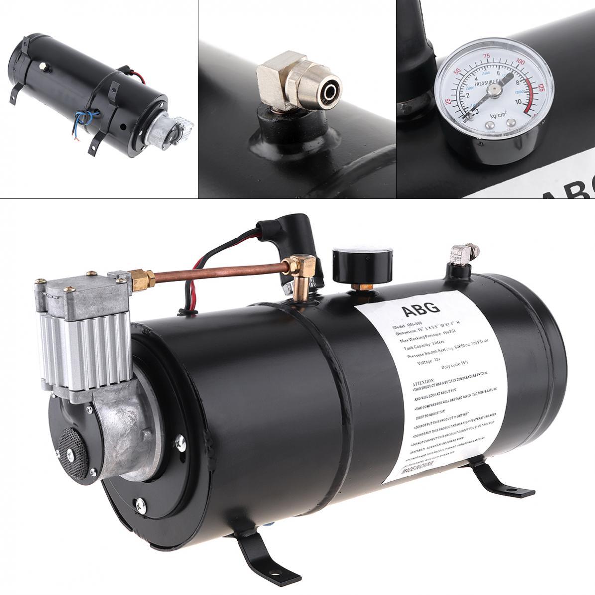 Pompe universelle Durable de réservoir de compresseur de klaxon d'air de voiture de 12 V 125 PSI pour le bateau automatique de camion de voiture de Train