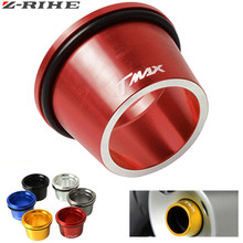for TMAX logo Motorcycle accessories CNC Aluminum Exhaust Tip Cover For Yamaha T-max 530 T MAX tmax 500 tmax500 12-2017