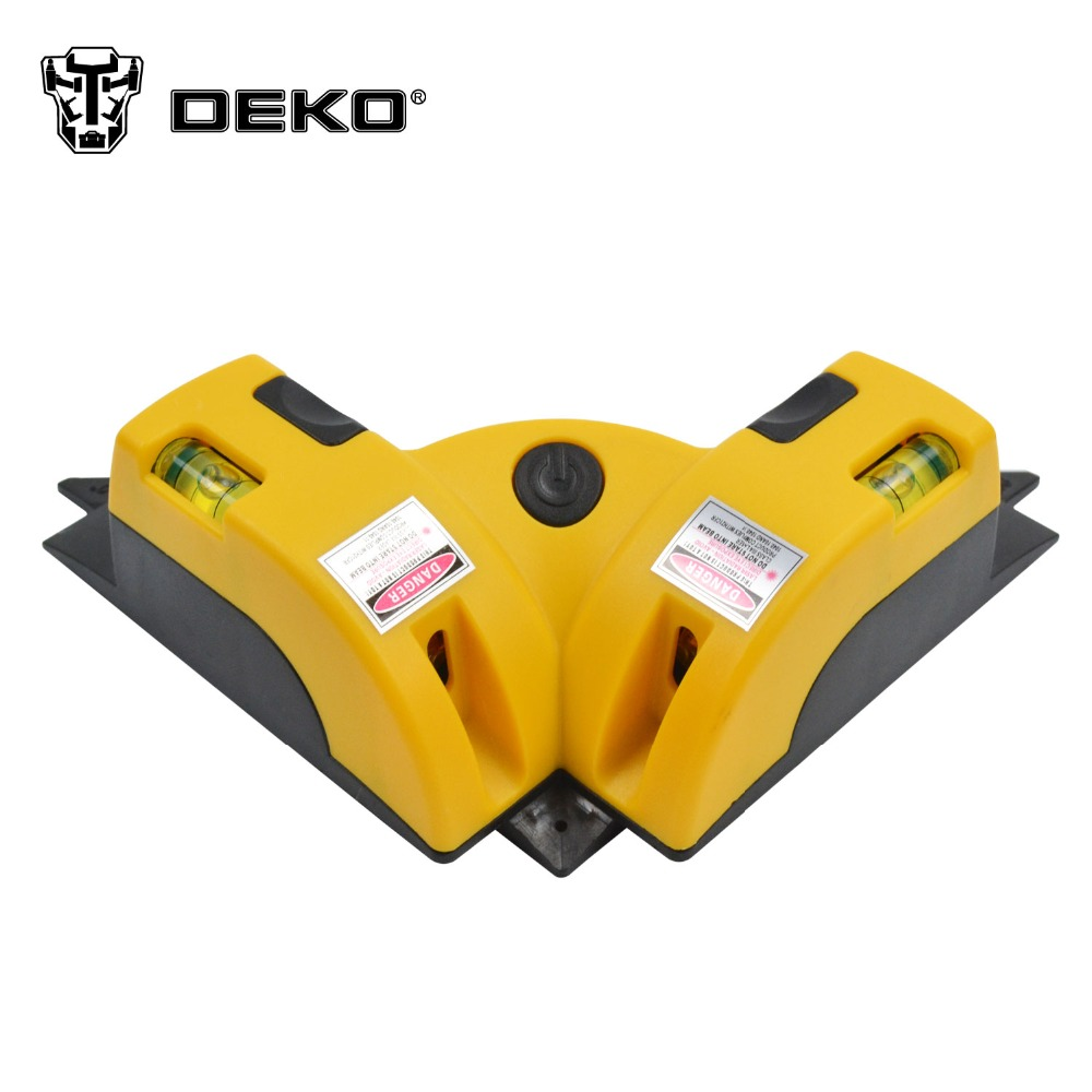 DEKOPRO Right Angle 90 Degree Vertical Horizontal Laser Line Projection Square Level Laser Level laser Measurement Tool kapro laser level laser angle meter investment line instrument 90 degree laser vertical scribe 20 meters