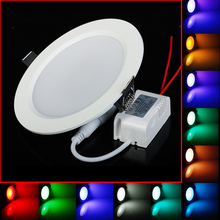 5PCS/LOT 5W RGB LED Panel Round Shape High Power Epistar Light With Remote Control For Home Decoration/Birthday Party/Stage