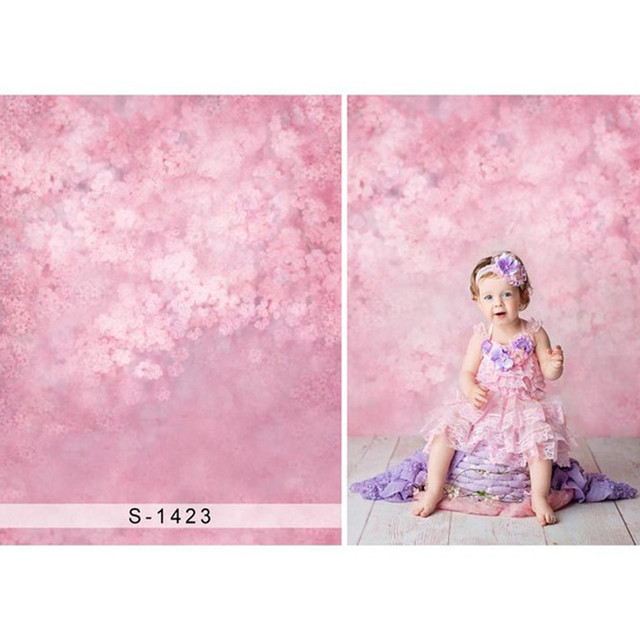 Pink Floral Backdrop Photography Bokeh Flowers Newborn Photoshoot