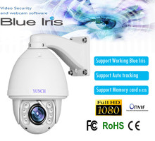 Hot sell HD 1080P 2MP 20X zoom 150M IR distance auto tracking PTZ IP Camera support audio/alarm/P2P CCTV automatic focusing