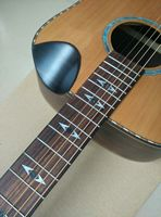 hand made performance acoustic guitar solid wood red cedar sprucer with fishbone binding