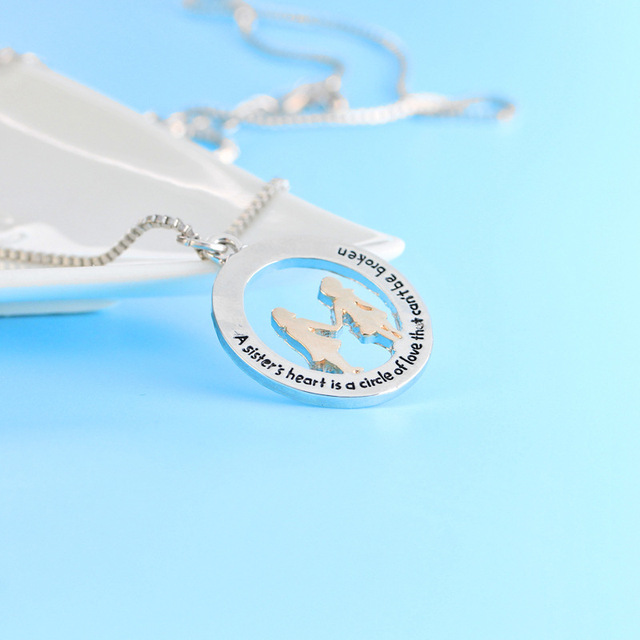 2017 New Rose Gold Silver Sisters Best Friends Statement Collier