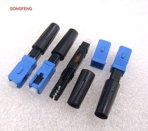 Image 5 - GONGFENG connecteur rapide pour Fiber optique, simple Mode SC/UPC, 100 pièces, FTTH, connecteur rapide encastré, vente en gros, spécial