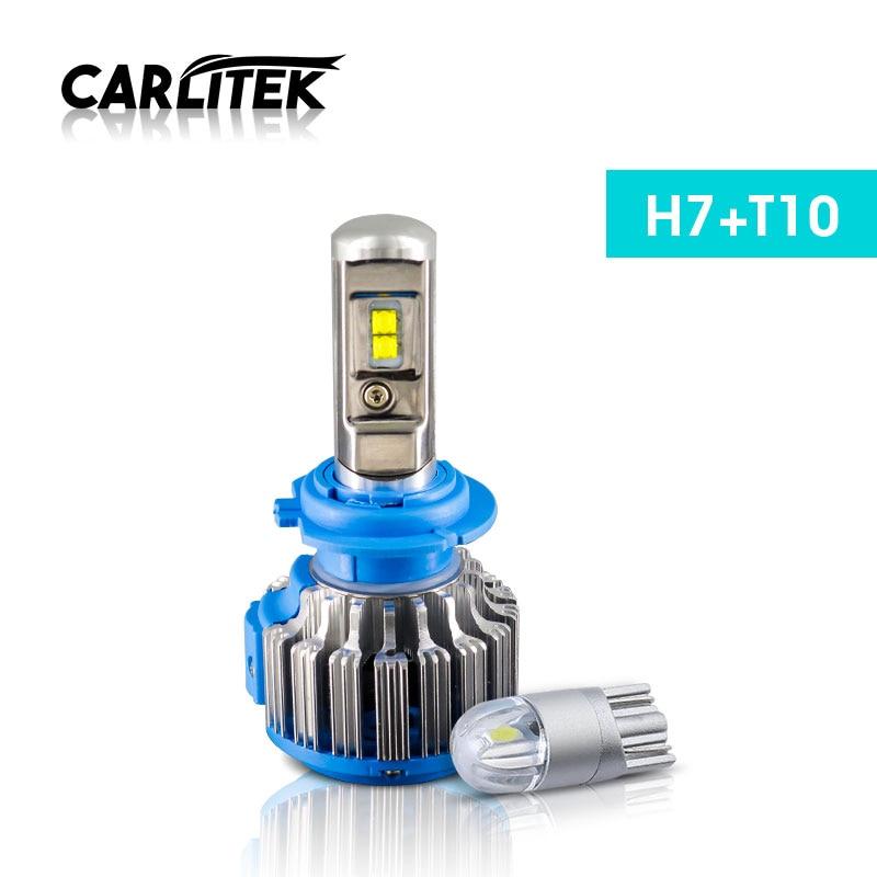 CARLitek 70W 7000LM H7 LED Bulb CANBUS Headlight Kit For Car Auto DRL Fog Driving Lamp 6000K White Automobiles Headlamp+T10 W5W