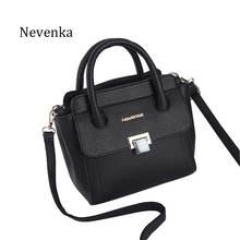 Nevenka Women's Fashion Casual Falp Messenger Bag Black Zipper Crossbody Bags Leather Shoulder Designer Travel Bags For Girls