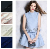 150cm flower jacquard fabric meter crisp fashion dress jacket DIY polyester fabric wholesale jacquard polyester fabric cloth