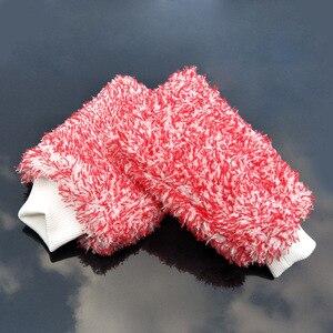 Image 4 - 1 sztuk rękawice do mycia samochodów z mikrofibry czyszczenie samochodu narzędzie szczotka do kół wielofunkcyjna pielęgnacja samochodu Detailing Brush 2019 nowych produktów