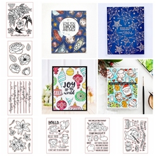 Lots Type New Design Transparent Clear Silicone Stamp Set for DIY Scrapbooking/Photo Album Cards Making Decorative Clear Stamp