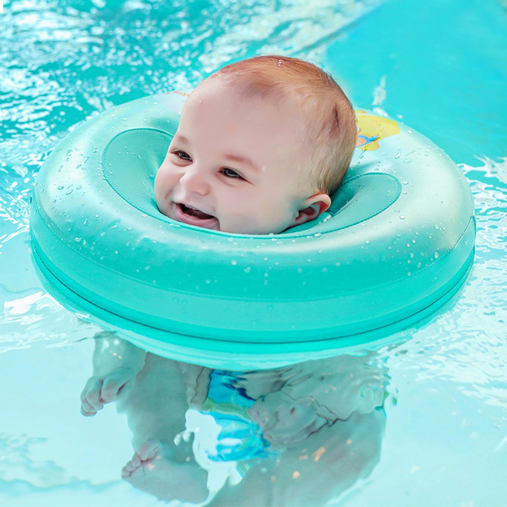 Anneau flottant Non gonflable de sécurité pour bébé enfants rond pas besoin de pompe Air bébé bain cercle cou entraîneur de natation accessoires de natation