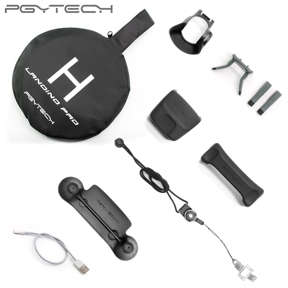 PGYTECH Accessories Combo for Mavic pro/Platinum (landing pad/Control Stick Protector/Lens Hood /propeller holder/landinggear) free shipping dahua ip camera cctv 6mp wdr ir eyeball network camera with poe ip67 without logo ipc hdw5631r ze