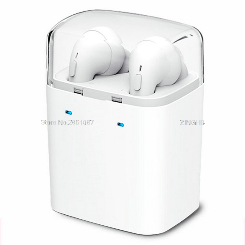 ФОТО 2017 Luxury Airpods Design Portable Wireless Bluetooth Earphone for iPhone 7 6 5 Hifi Noise Canceling Bass Headset For Xiaomi