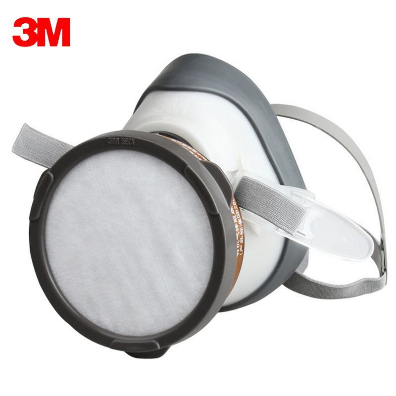 3M 1201 Half face Dust respirator Against Organic Gas Mask steam filtration(Benzene and homologues gasoline carbon disulfide) protective outdoor war game military skull half face shield mask black