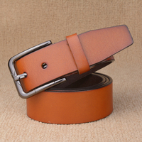 New Brand Designer Mens Belt Luxury Style Real Leather Belts For Men Metal Buckle Man Jeans
