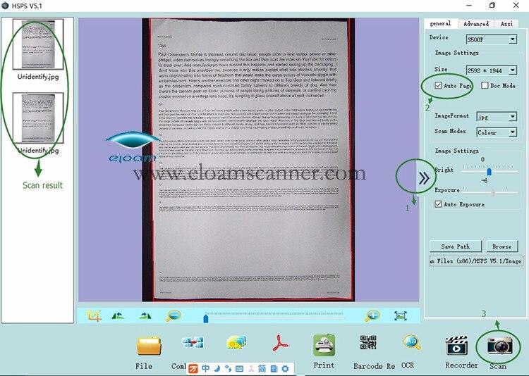 5,0 мегапикселей 2592x1944 USB2.0 Мини Портативный сканер для документов фото