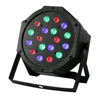 Professional LED Stage Lights 18 LED RGB PAR DMX Stage Lighting Effect DMX512 Master Slave Flat