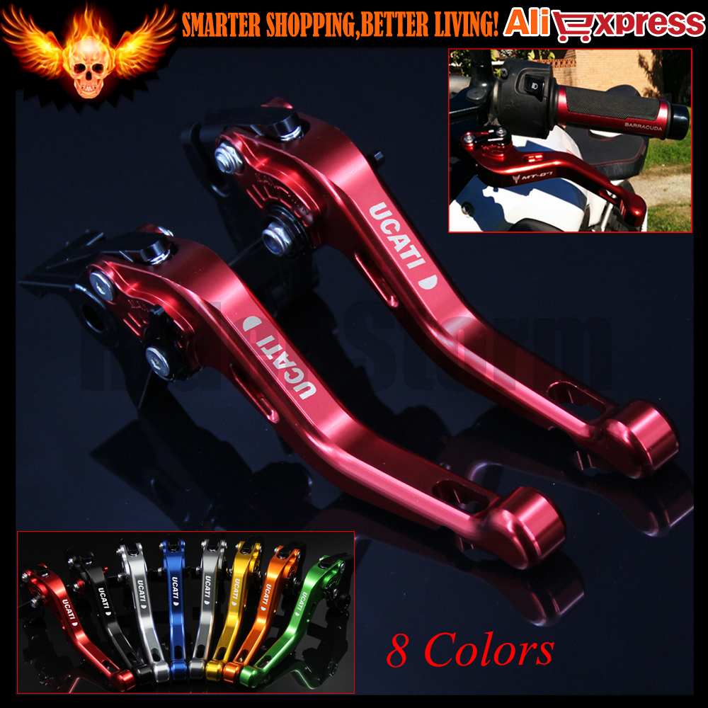 ФОТО 8 Colors New CNC Aluminum Red Motorcycle Short Brake Clutch Levers for Ducati HYPERMOTARD 821 SP 2013 2014 2015