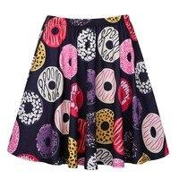 Women Sweet Cartoon Print Mini Skirts Girls Design Summer Casua Streetwear Pleated Skirts S XL