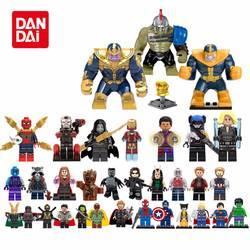 Супер Герои Legoing Мстители: Бесконечная война танос Бесконечность Gauntlet Тор Капитан Америка Халк строительные блоки игрушки Фигурки