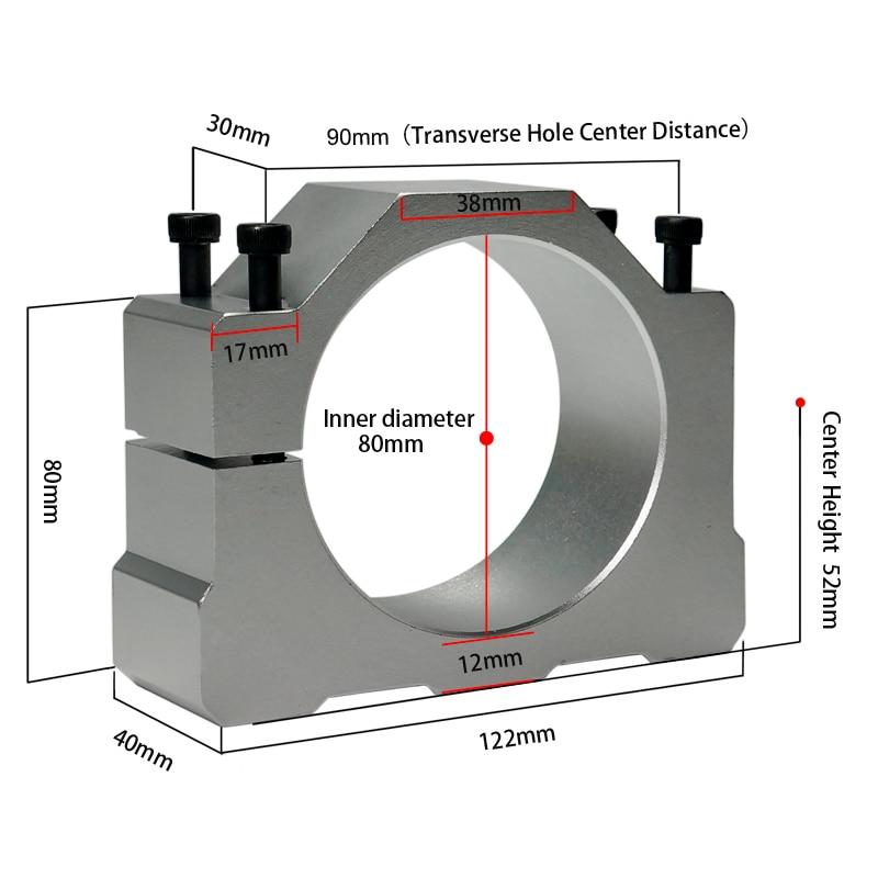 Diameter 80mm Cast Aluminium Bracket 65mm Spindle Clamp Of Cnc Spindle Motor Kit Tool