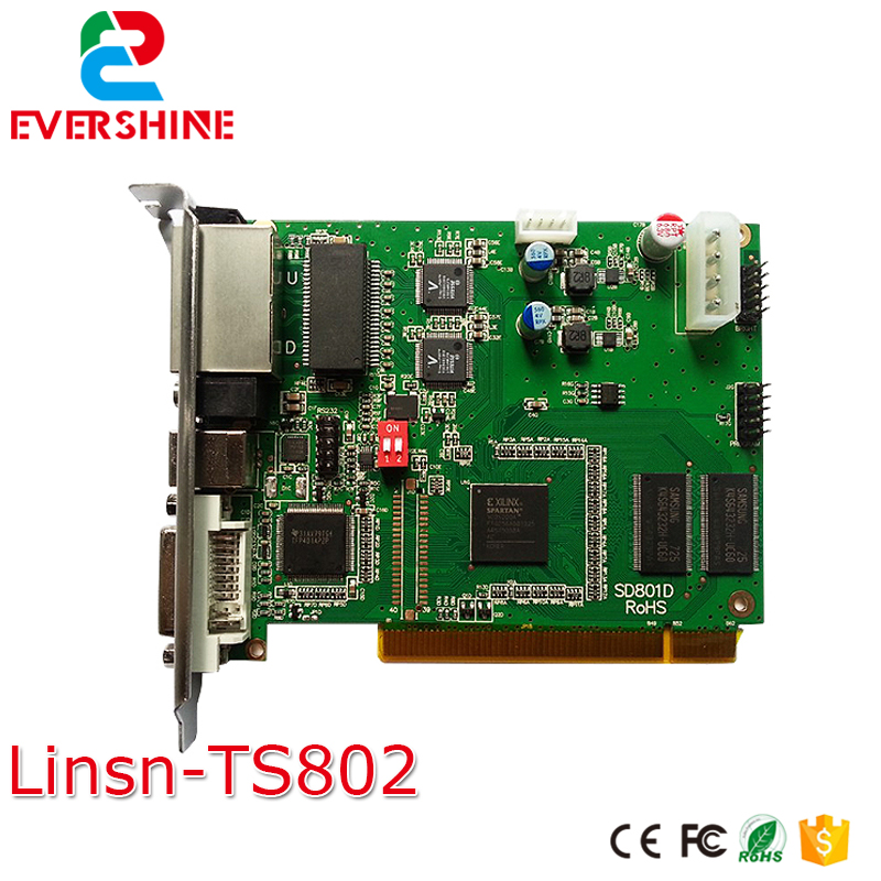 цены linsn ts802 synchronous full color indoor and outdoor led module display controller sending card