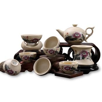Chinese Kung Fu Tea Sets Teapot cover Cup Tieguanyin balck tea Gift set High-grade ceramic Tea set Free Shipping