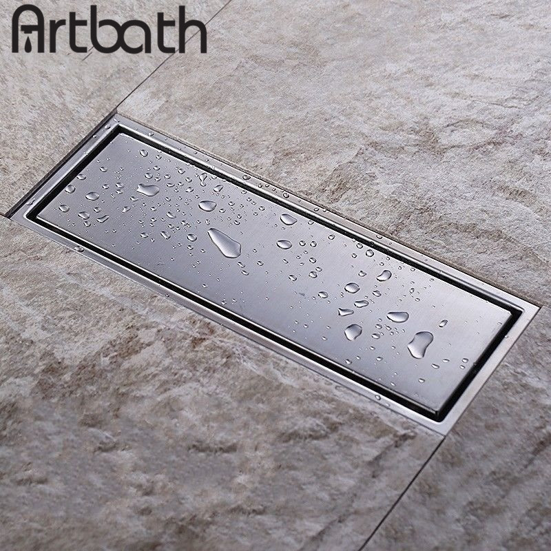 ARTBATH Free Shipping 304 Stainless Steel Square Invisible Bathroom Floor Drain Waste Grate Bathtub Shower Drainer Strainer  anti odor bathtub shower drainer floor strainer 10x10cm 304 stainless steel square invisible bathroom floor drain waste grate