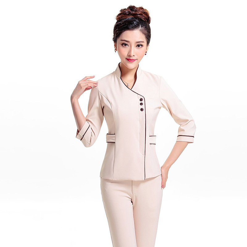 Popular work uniform buy cheap work uniform lots from for Spa uniform indonesia